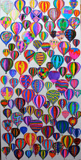 192 best murals classroom display wall art images on pinterest 3rd grade art project kids decorated 3 different sizes of hot air balloon using markers