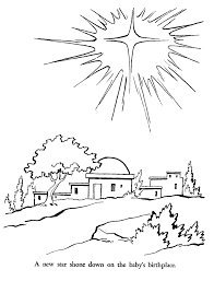 religious christmas bible coloring pages star of bethlehem