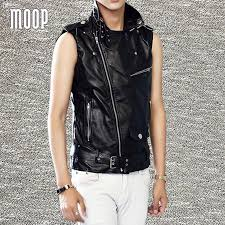 fall motorcycle jacket fall black white red pu leather vest faux leather motorcycle