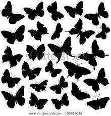 butterfly silhouette stock images royalty free images vectors