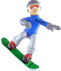 snowboard star male christmas ornament buy snowboard