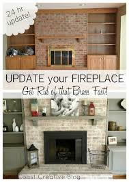 How To Resurface A Brick Fireplace by How To Paint A Brick Fireplace Brick Fireplace Brass Hardware
