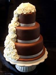 simple wedding cake chocolate decorating of party