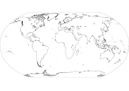 Blank Continent And Ocean Map by Coloring Pages 7 Continents