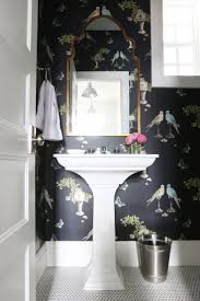 Wallpaper In Bathroom Ideas by 278 Best Wallpapered Bathroom Images On Pinterest Bathroom Ideas