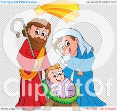 cartoon of a joseph virgin mary and baby jesus nativity scene