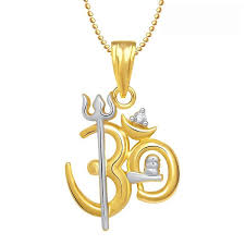 white gold necklace pendants images Om pendant trishul 0 025 ct diamond yellow white gold festive jpg&a
