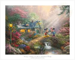 thomas kinkade signed and numbered limited edition giclee print on