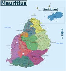 Pictures Of Maps Map Of Mauritius Overview Map Regions Worldofmaps Net Online