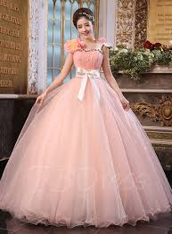 quinceanera dresses with straps a line straps flowers bowknot floor length quinceanera dress