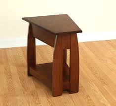 solid cherry wood end tables sonoma solid cherry wood wedge end table amish furniture solid