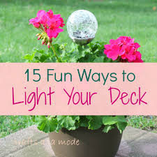 Solar Light Ideas by 15 Awesome Diy Lighting Ideas For Your Deck Crafts A La Mode
