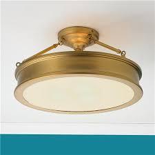 gold flush mount light lighting design ideas vintage antique brass flush mount ceiling