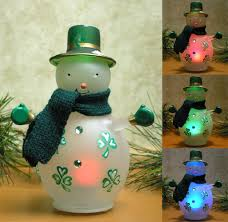 snowman led lighted glass snowman with painted