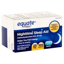 equate nighttime sleep aid caplets 25 mg 100 count walmart com