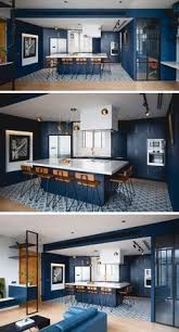 Blue Kitchen Design Out The Paint Blue Kitchens Are Très Chic Right Now Navy