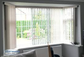 vertical blinds with pelmets in a bay window harmony blinds of