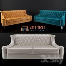 Armen Living Barrister Sofa by 3d Models Sofa Armen Living Barrister Velvet Sofa