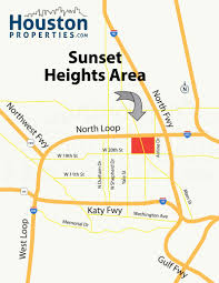 Katy Trail Dallas Map by Sunset Heights Houston Homes Real Estate U0026 Neighborhood Map