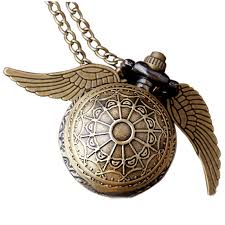 necklace watch vintage images Harry potter golden snitch necklace pocket watch ball shape bronze jpg