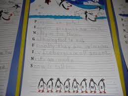 Halloween Acrostic Poems Patties Classroom Penguin Acrostics And Penguin Footprint Art