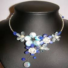 blue fashion necklace images Thai fashion jewelry jpg