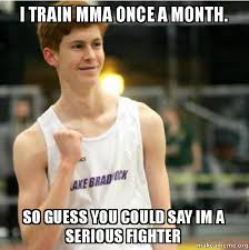 Mma Meme - i train mma once a month so guess you could say im a serious