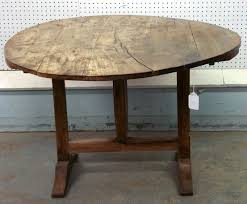 Wine Tasting Table French Tilt Top Wine Tasting Table With Shoe Foot And Butterfly