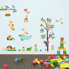 Bedroom Jungle Wall Stickers Popular Jungle Baby Gifts Buy Cheap Jungle Baby Gifts Lots From