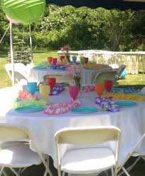 Baby Shower Table Setup by Hawaiian Luau Jack And Jill Baby Shower My Events Pinterest