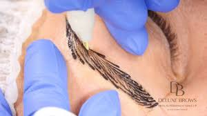 eyebrow feather tattoo uk deluxe brows combined manual technique microblading strokes and