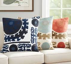 suzani embroidered pillow cover pottery barn