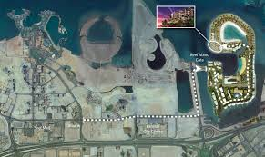 reef island le bahrain map loversiq