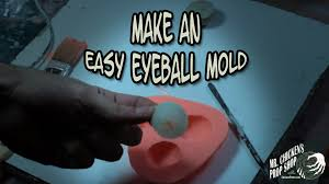 how to make an eyeball mold for halloween props youtube