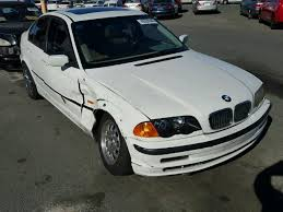 bmw 323i 1999 parts 1999 bmw 323i 4 door white damaged right side for parts