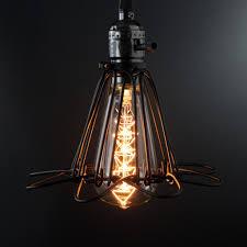 minimalist vintage industrial cage pendant light judy lighting