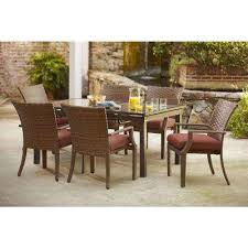 Red Patio Set by Tobago Hampton Bay Red Patio Furniture Outdoors The Home