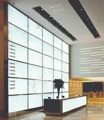 Illuminated Reception Desk Feature Wall Spanlite
