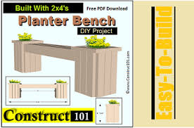 how to build a planter guides and plans flower bed