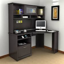 Black Desk With Hutch Place A Desk With A Hutch And A Wing In A Room