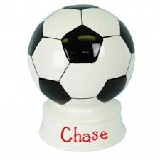 sports themed piggy banks soccer bank great looking ceramic soccer piggy bank
