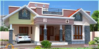 floor plan modern single home kerala design building plans