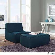 armless chair and ottoman set align 2 piece upholstered armless chair and ottoman set overstock
