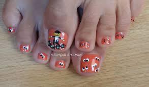 halloween pumpkin toe nail art halloween pumpkin designs