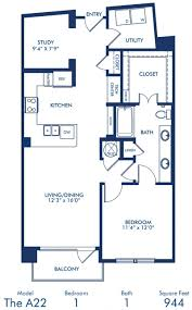 1 2 bedroom apartments in dallas tx camden victory park blueprint of a2 2 floor plan 1 bedroom and 1 bathroom at camden victory
