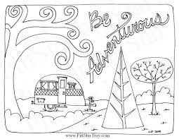 instant download whimsical travel trailer printable