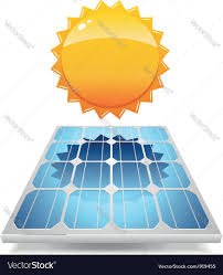 solar panels clipart solar panel with sun royalty free vector image
