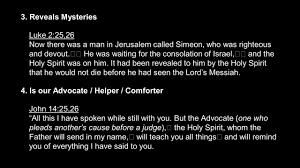 Holy Spirit My Comforter God Of Wonder The Holy Spirit Ppt Download