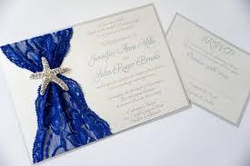 wedding invitations destination blue starfish lace wedding invitation destination wedding