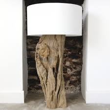 driftwood trunk table lamp base doris in brixham devon